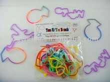 2012 hotsale promotional items- high elestic rubber hair cords&bands