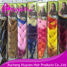 Aliexpress hot selling fashion synthetic ombre color jumbo braid/marley braid hair in stock
