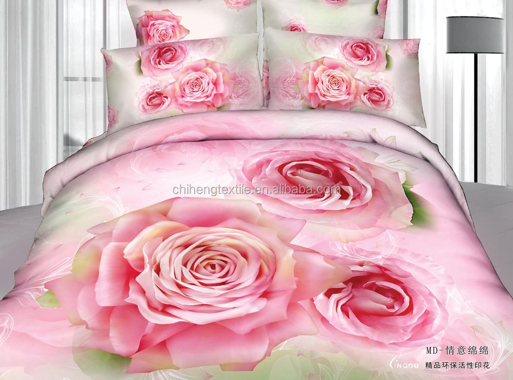 Extrêmement 2015 la chine fournisseur rose rose romantique 3d ensemble de  AQ77