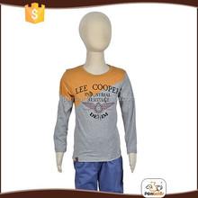 Spring o-neck 100% cotton breathable children boys plain t-shirt