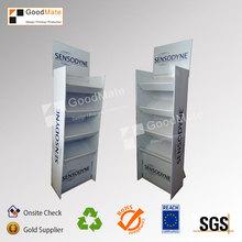 POP Cardboard Floor Display Skin Care Stand