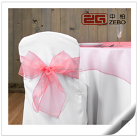 100% Polyester Colorful Wedding Used Customized Sized Organza Chair Sash