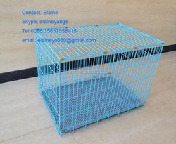 folding dog cage/metal wire dog cage