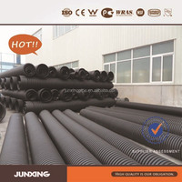 200mm HDPE corrugated plastic drainage pipe with free rubber ring