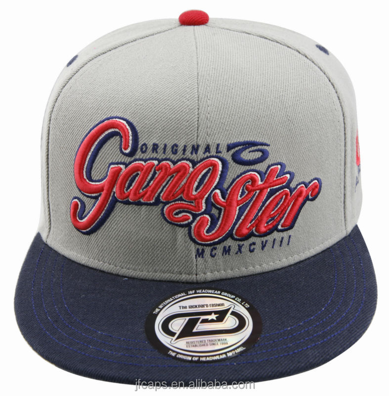 Gangster Aw 3d Embroidery Snapback Hiphop Flat Cap And Hat View