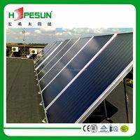 Blue TiNOX Pressurized flat panel solar Collector for solar water heater solar water heating system