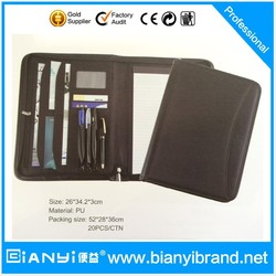 Perfect A4 A5 PU leather 3 6 metal clip ring binder