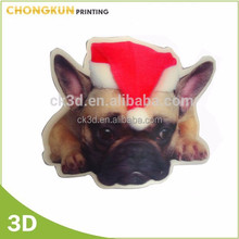 Cheap 3D lenticular hang tag, Christmas design tag card for decoration