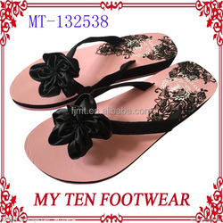 Sex Satin Flower Decoration Nice Style of Lady Sandals