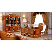 0038 European solid wood luxury study room furniture