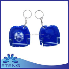 Economical & Durable PVC custom printing led name keychain with company logo