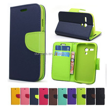 Fashion Book Style Leather Wallet Cell Phone Case for lenovo A816 with Card Holder Design