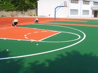 Basketball EPDM Rubber Court, EPDM Granules for school sports playground-FN-A-15112502