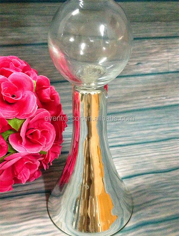 Clear reversible trumpet glass vase flower wedding