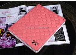 Factory price for ipad mini 1/2/3 leather case,for ipad mini1/2/3 rhombic pattern case,for ipad mini 1/2/ 3 case design