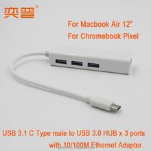 "USB HUB 3.1 3 Port for Macbook Air 12"""