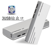 High capacity innovation 3 USB output power bank charger 20000 mah