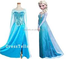 C027 Wholesale Custom Size Adult Frozen Princess Queen Elsa Costume