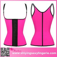 fashion pink latex sport waist shaper corset training body shaper