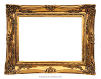 hotsell pop golden poly resin frame for wall decoration and