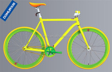 OEM offered colorful 700C steel single speed road bicycle made in China