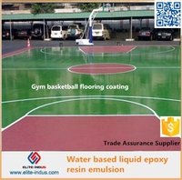 Liquid epoxy resin for water based flooring paint