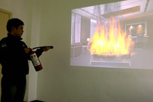 simulador de incendios para el entrenamiento