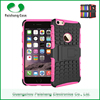 Cheap mobile phone protective custom cases 8 colors PC+TPU 2 in 1 dual layer case with kickstand case cover for iPhone 6 plus