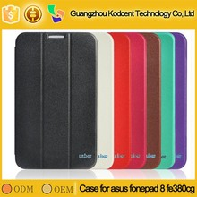 Good prices tablet folio cover leather case for asus fe 380 cg