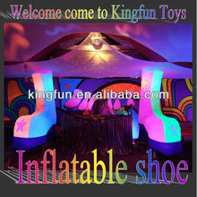 Fashion Lighted shoe decoration for bar