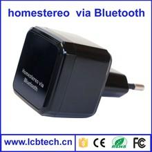 Mini via home Stereo Wireless Bluetooth Music Receiver 3.5mm Auido Black
