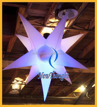 2m led decoration inflatable star