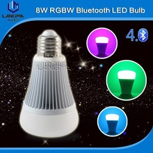 Langma 16 million colors plus warm and cool white bluetooth 4.0 rgbw led bulb