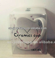 PVC/PET clear plastic packaging box for cups and mugs
