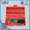 "46 PCS socket wrench set with ratchet wrench handle,1/4"" Dr.,CR-V"