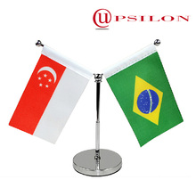 Unique telescopic table flag pole with metal base for sale
