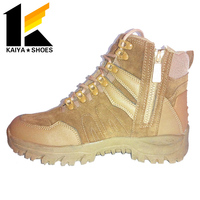 Side Zip Stealth Military Boots Tactical Boots, Desert Tan