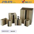 2015 nuevos accesorios de baño de bambú producto,6 piezas accesorios de baño