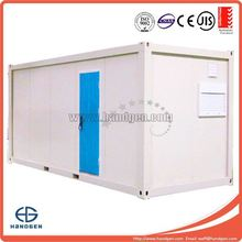 Flat pack prefabricated container living house with one door and two windows