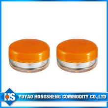 3ml plastic cream jar with pp lid