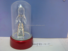 Fused glass figurines wholesale christmas led bulbs for decorations