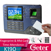 English Spanish Arabic Automatically update the fingerprint template 125khz EM card fingerprint time attendance system /time rec