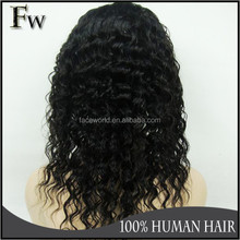 Top quality malaysian kinky curly full lace wig