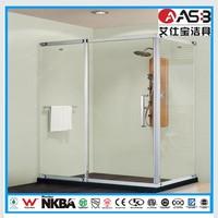 corner standing style 8mm Tempered Glass bathroom shower 80x120