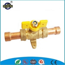 butterfly handle brass gas ball valve with copper pipe