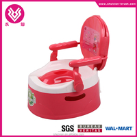 Convenient design plastic folding potty seat chair for baby and kids