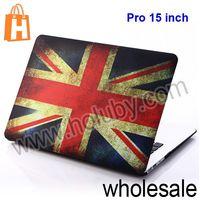 Retro Uk US Flip Leather Case for Macbook Pro 15 inch