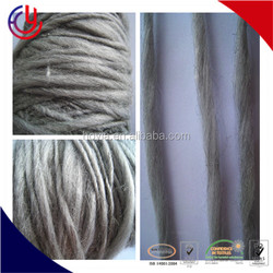 Light Taupe Color Hand Spun Hand Dyed Thick and Thin Chunky Wool Knitting Yarn