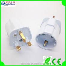 16A European 2 round pin plug to BS three plug adapter