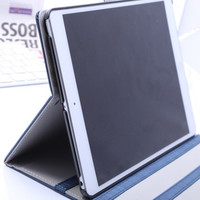 pu leather case for ipad air Wood grain with 3 flip